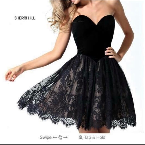 Sherri Hill Dresses Black Short Dress Size 0 Poshmark